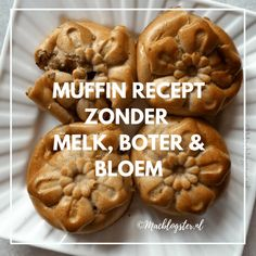 Havermout muffins maken met yoghurt - zonder boter & bloem Healthy Baking, Healthy Treats, Cake Recipes, Dessert Recipes, Desserts, Yummy Snacks, Yummy Food, Low Carb Recipes, Healthy Recipes