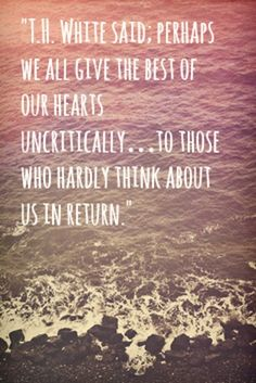 We give the best of our hearts... to those who hardly about us in return.