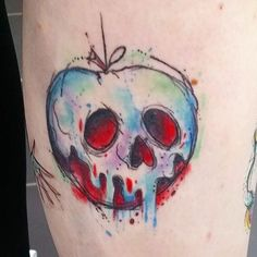 Poison apple all healed up  #watercolours #watercolourtattoo #disneytattoo…