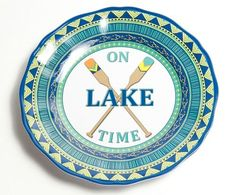 On Lake Time Salad Plates- Set of 4