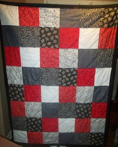 Throw quilt Made by Heather Miller of Laundry Room Quilts