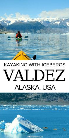 Kayaking in Alaska, is an unforgettable experience. It offers the chance of floating past huge icebergs, with a backdrop of a glacier and incredible snow capped mountains Moving To Alaska, Alaska Travel, Travel Usa, Alaska Trip, Alaska Cruise, Spain Travel, Solo Travel, Alaska Usa, Valdez Alaska