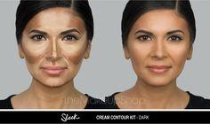 Paleta conturare Sleek Cream Contour Kit Dark doar pe http://www.makeupshop.ro