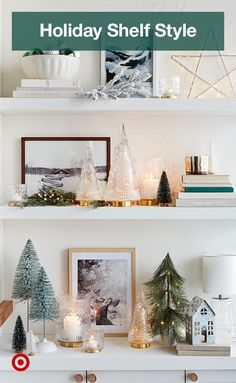 Your own little winter wonderland, right at home. Target Christmas Decor, Christmas Mantels, Christmas Home, White Christmas, Christmas Holidays, Christmas Ideas, Winter Wonderland, Navidad Diy, Just Dream