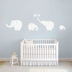 Elephant Set Decorative Wall Decals and Wall Stickers