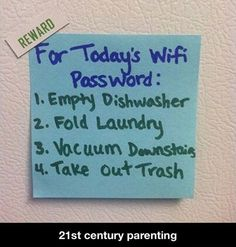 This has been noted. - 21st century parenting