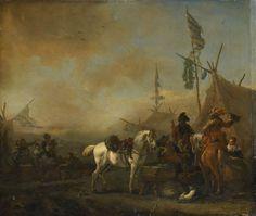 Philips Wouwerman - Een legerkamp
