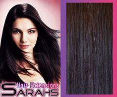 24 inch Off Black (1b). Full Head. Clip in Human Hair Extensions. High quality Remy Hair!. 120g Weight from Sarahs Hair Extensions (Misc.)