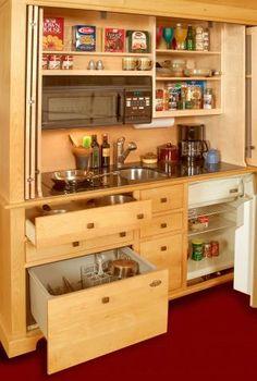 Small Kitchen Armoire For Creek House Studio