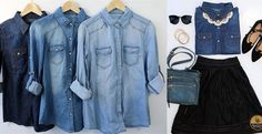 Denim/Chambray shirts are a basic staple in my closet!! They go with everything and look so cute layered!! These ones are only $19.99 and going fast!!
