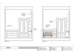 MDR.  Casa V. Progetto per la camera 1. Abitazione privata, Milano.