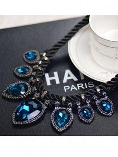Beaut Blue Gemstones Neckpiece