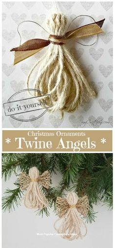 DIY Christmas Ornaments: Twine Angels – myCraftchens DIY Christmas Ornaments: Twine Angels – myCraftchens,Christmas 11 Christmas Ornaments DIY Homemade Simple and Easy Related posts:How To Make A No Sew T-Shirt Tote Bag In Diy Christmas Ornaments, Christmas Angels, Simple Christmas, Christmas Holidays, Christmas Wreaths, Ornaments Ideas, Homemade Christmas Tree Decorations, Homemade Ornaments, Crochet Ornaments