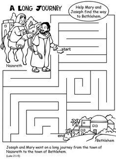 Für Kinder: Simple Nativity maze for preschool students 2019