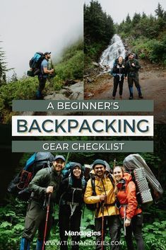 Where do you even start when it comes to packing for your first backpacking trip? To help take a little weight off your shoulders (pun definitely intended), here's our complete list of everything you're going to need for your beginner backpacking trip! (With a free backpacking checklist too!) #backpacking #gear #camping #adventure #outdoors #nature #PNW