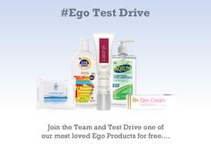 I just signed up to #Egotestdrive for my chance to trial products from @Ego Everyday!