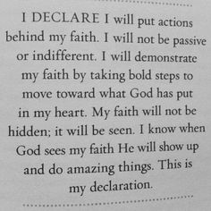 "Declaration: a formal or explicit statement or announcement- You must declare by faith the outcome of a situation. ""I will get that job"" I will save my relationship!"" I will be healed"" Declare in Jesus name! #declare #jclu_4ever"