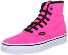 Vans Authentic Hi Neon Pink VN 0RQF0FR Shoes Size Women's 8.5/ Men's 7 on Sale