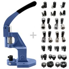 SET Kit 19 tools dies + 1 hand press for eyelets rivets press fasteners S020 | eBay