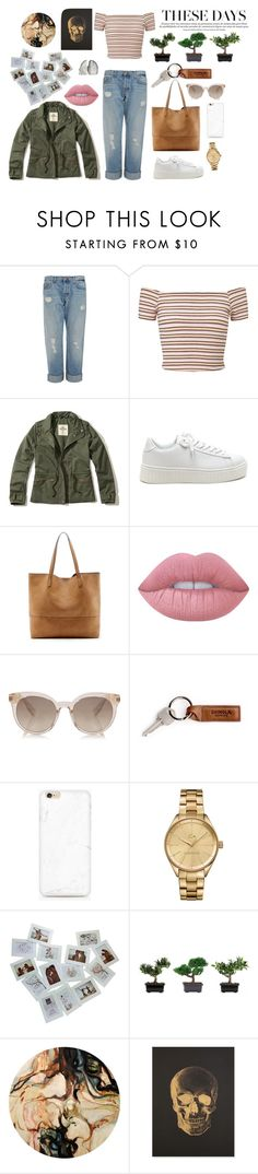 """""""Casual"""" by aaykeels ❤ liked on Polyvore featuring J Brand, Miss Selfridge, Hollister Co., Sole Society, Lime Crime, Lacoste, Nearly Natural and Katie Leamon"""
