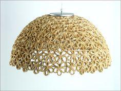 nl – DIY lamp steps 4 to 9 – Light Ideas Toilet Paper Roll Art, Rolled Paper Art, Toilet Paper Roll Crafts, Basket Crafts, Jute Crafts, Diy Home Crafts, Cardboard Tube Crafts, Newspaper Crafts, Diy Lampe