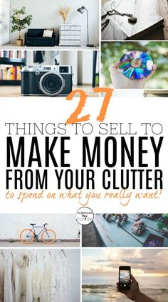 When you declutter it makes sense to try and make some money on items that you can sell to someone else. This is a fantastic list of things to sell for cash that you can find around your house. I hope it helps! Declutter Home, Declutter Your Life, Organizing Your Home, Make Money Fast, Way To Make Money, Getting Rid Of Clutter, Trendy Home, Spring Cleaning, Homemaking