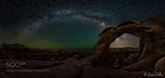 """Milky Way Over Broken Arch  I explain how I captured this image in """"Collier's Guide to Night Photography at: http://ift.tt/1T8zhvP  This image shows Broken Arch and the Milky Way in Arches National Park. To capture detail both the foreground and the sky I combined a large stitched image of the land with a large stitched image of the sky.  Image credit: http://ift.tt/2ab1l5p Visit http://ift.tt/1qPHad3 and read how to see the #MilkyWay  #Galaxy #Stars #Nightscape #Astrophotography"""