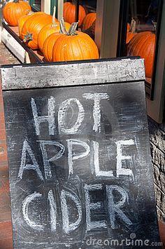 Hot Apple Cider Chalkboard Sidewalk Sign