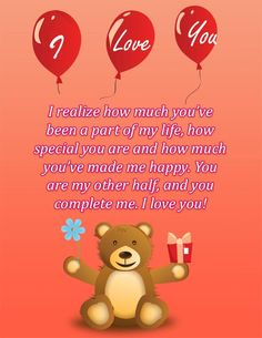 "A charming I love you ecard with a loving romantic message. This ecard features a lovable teddy bear and bright red balloons with the words ""I,"" ""Love,"" ""You"" etched on them.  Download the free high quality ecard at http://www.aliquamecards.com"