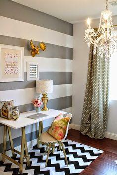 No Reino dos 7: Office room: Gold & White