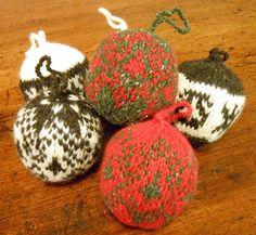 Christmas Bauble Knitting Kit. $28, via Etsy.