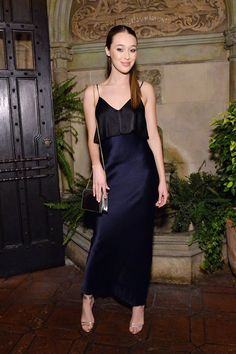 Alycia Debnam-Carey wears DVFSS17 to a dinner at Chateau Marmont Los  Angeles celebrating DVF d67a45a37