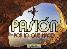 Cuando la pasión te mueve, nada te detiene.  #Escalada #climb #DeAventura