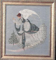 lavender and lace cross stitch | Lavender & Lace Cross Stitch Pattern, Ice Angel, 230 by 255 stitch ...