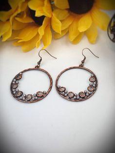 Copper Hoop Earrings – Belvie Jewelry