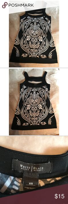 White House black market tunic It's just gorgeous tunic, true white and black mkt fashion. Gently used condition. Smoke free home. White House Black Market Tops Tunics