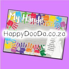'n Tema muurkaart – My hande. Hierdie produk is in Afrikaans vir leerders 4-13 jaar. Home Schooling, Afrikaans, Hdd, Homeschool, Words, Afrikaans Language, Homeschooling