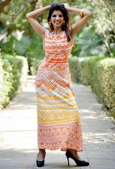 Evening Dresses – Handmade Ethnic Traditional Long Mandala Dress     – a unique product by IndianCraftPalace on DaWanda