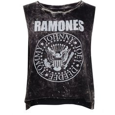 Pull & Bear Ramones T-Shirt (€14) ❤ liked on Polyvore featuring tops, shirts, tank tops, t-shirts, shirts & tops, black shirt, black top, cotton shirts and pull&bear