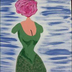 La femme à tête de rose