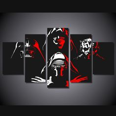 Own this amazing Star Wars dark forces wall canvas today we will ship the canvas for free. This is the perfect centerpiece for your home. It is easy to assemble and hang the panels together which makes this a great gift for your loved ones.  This painting is printed not handpainted and is ready to hang! We have 2 options for this canvas -- Size 1: (20x35cmx2pcs, 20x45cmx2pcs, 20x55cmx1pc) Size 2: (30x50cmx2pcs, 30x70cmx2pcs, 30x80cmx1pc) Limited quantities left. www.octotreasures.com