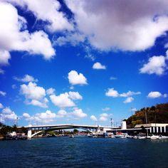 Winter blue sky...