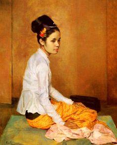 Sir Gerald Kelly - Burmese Pearl