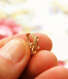 Body jewelry NON PIERCED earring ear cuff 14k by junelittleshop