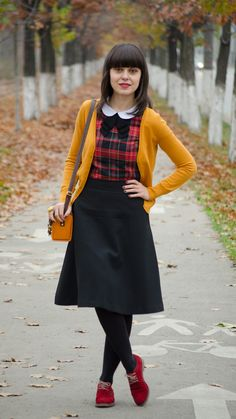 Houndstooth, mustard and tartan