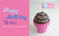 Free Happy Birthday Cupcake Topper Printable | Tween Craft Ideas for Mom and Daughter