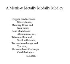 A Mettle-y Metally Medally Medley