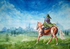 The Legend of Zelda: Ocarina of Time, Adult Link and Adult Epona / A New Journey Begins by In-The-Distance on deviantART