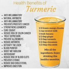 health cleanse Turmeric lattes and smoothies make a great anti-inflammatory drink. Check out all the other benefits. Smoothies Detox, Healthy Fruit Smoothies, Fruit Smoothie Recipes, Healthy Juices, Healthy Fruits, Healthy Drinks, Detox Drinks, Smoothie Diet, Healthy Juice Recipes
