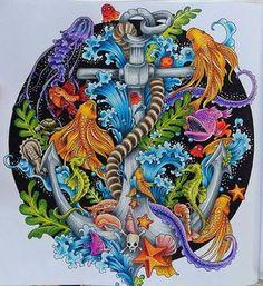 Végre kész. :) #coloring #adultcoloring #mycoloring #mywork #kerbyrosanes #imagimorphia #anchor #prismacolorpencils #somanyhours #butienjoyedit